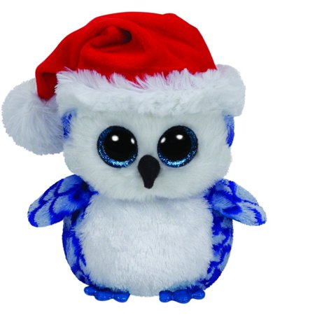TY Beanie Boos - Icicles The Blue Owl (Glitter Eyes) Holiday (Christmas) Small 6