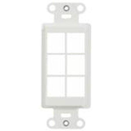 On-Q Legrand WP3416-LA Decorator Strp 6Port Light Almond