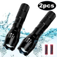 2000 Lumens 5 Modes LED Flashlight Torch Rechargeable Super Bright Zoomable Flashlight Lamp Light + 18650 Battery For Camping Fishing