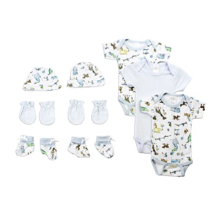Newborn Gift Set Case - Newborn Baby Boys 5 Pc Layette Baby Shower Gift Set