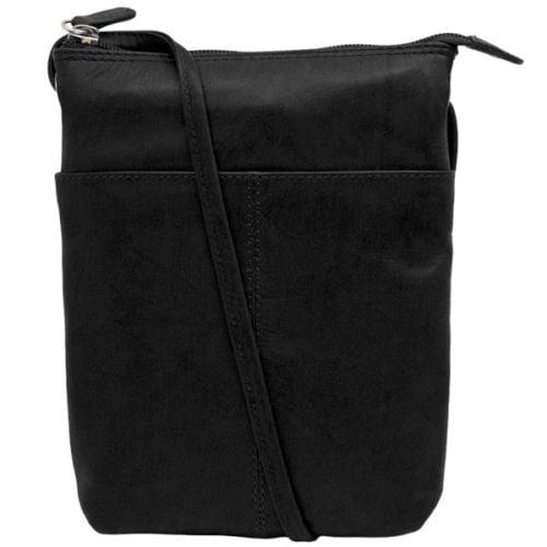 Women's ILI, Small Crossbody leather Purse ORANGE N