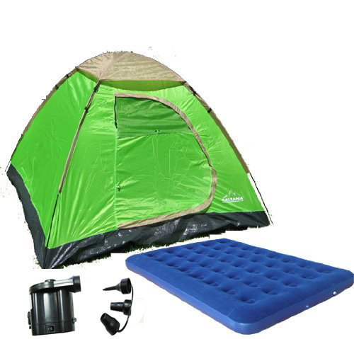 Zaltana 3 PERSON TENT WITH Twind size AIR MATTRESS & DC p...