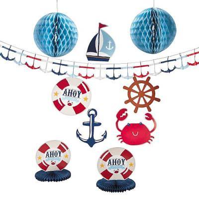 IN-13687984 Nautical Baby Shower Decorating Kit (Nautical Theme Baby Shower)