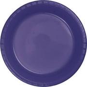 Purple Plastic Dessert Plates, 20-Pack