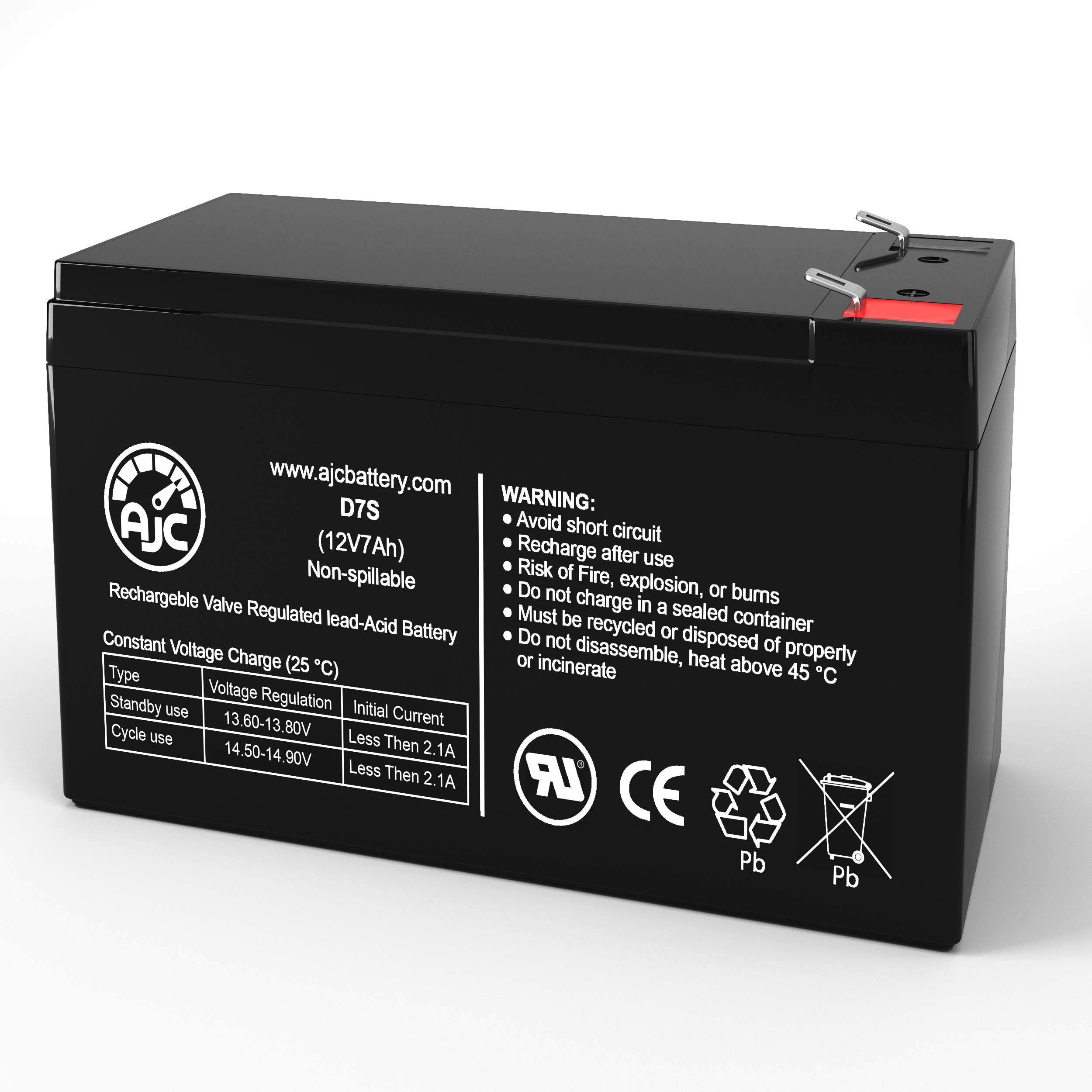 This is an AJC Brand Replacement GE Digital Energy LanPro LP8-31 LP10-31 12V 7Ah UPS Battery