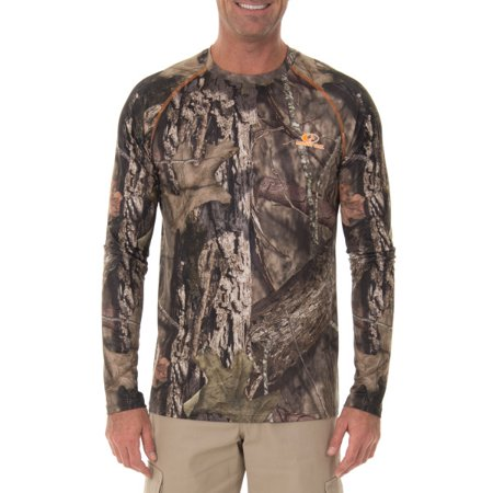 b3e09942e2d5 Mossy Oak Men s Insect Repellent Performance Long Sleeve Tee - Walmart.com