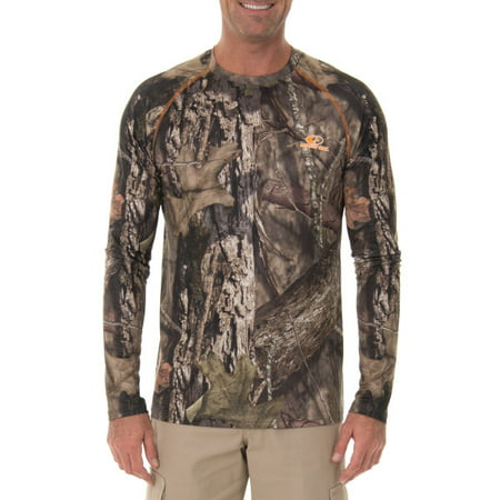 Mossy Oak Men's Insect Repellent Performance Long Sleeve (Mossy Oak Tie)