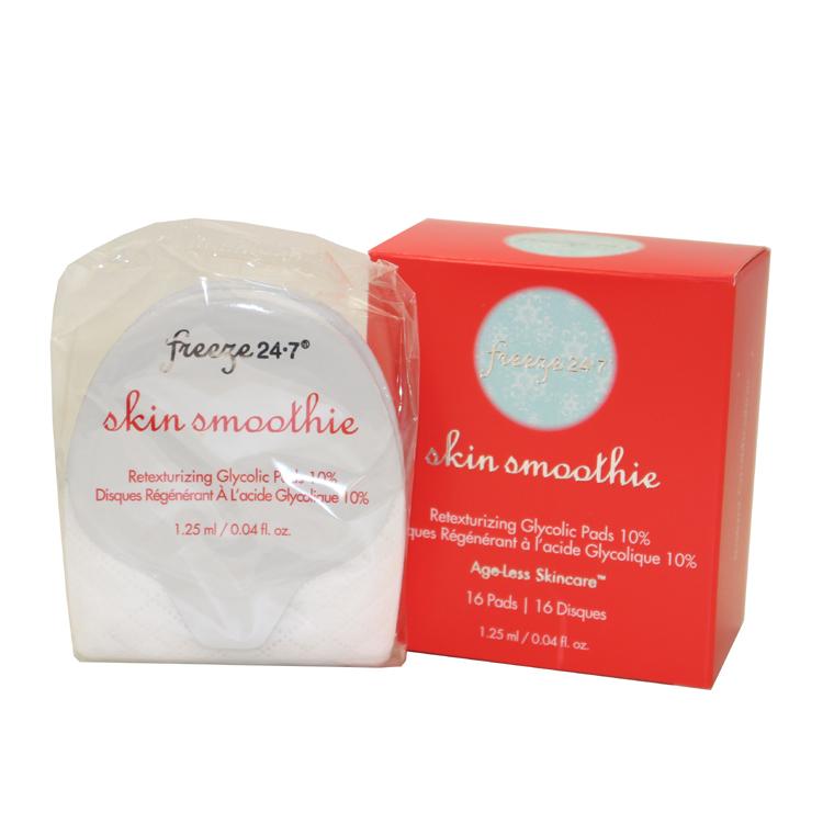 Freeze 24-7 Skin Smoothie Retexturizing Glycolic Pads 10% (16 Pads) 0.04 Oz / 1.25 Ml