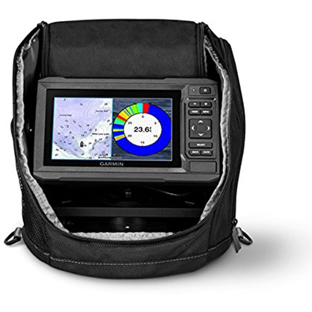 Garmin ECHOMAP Plus 63cv Ice Fishing Bundle Sonar Device, 010-01889-15, Black