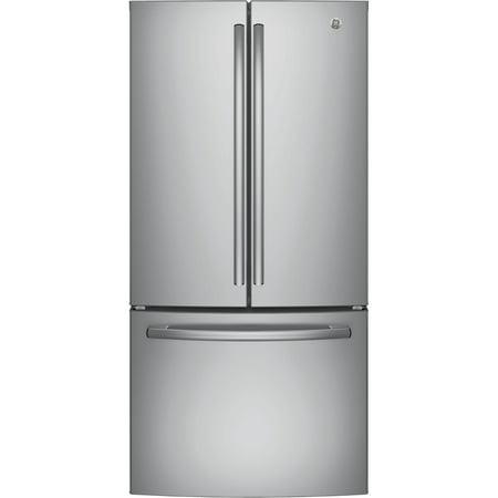 GE Appliances GNE25JSKSS 33 Inch French Door Refrigerator Stainless Steel