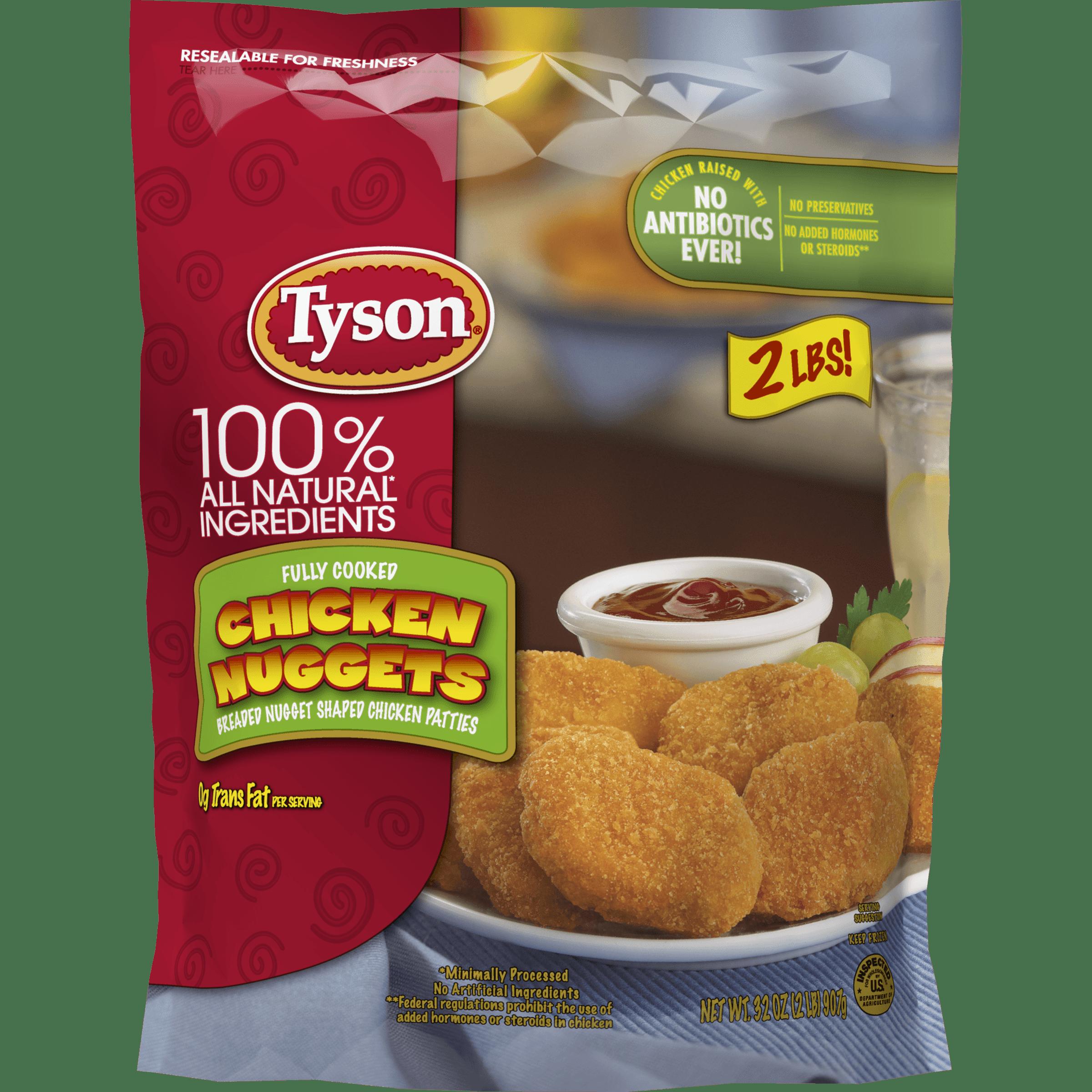 tyson® fully cooked chicken nuggets, 32 oz. (frozen) - walmart