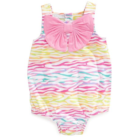 First Impressions Baby Girls Pink Zebra Print Sunsuit Romper