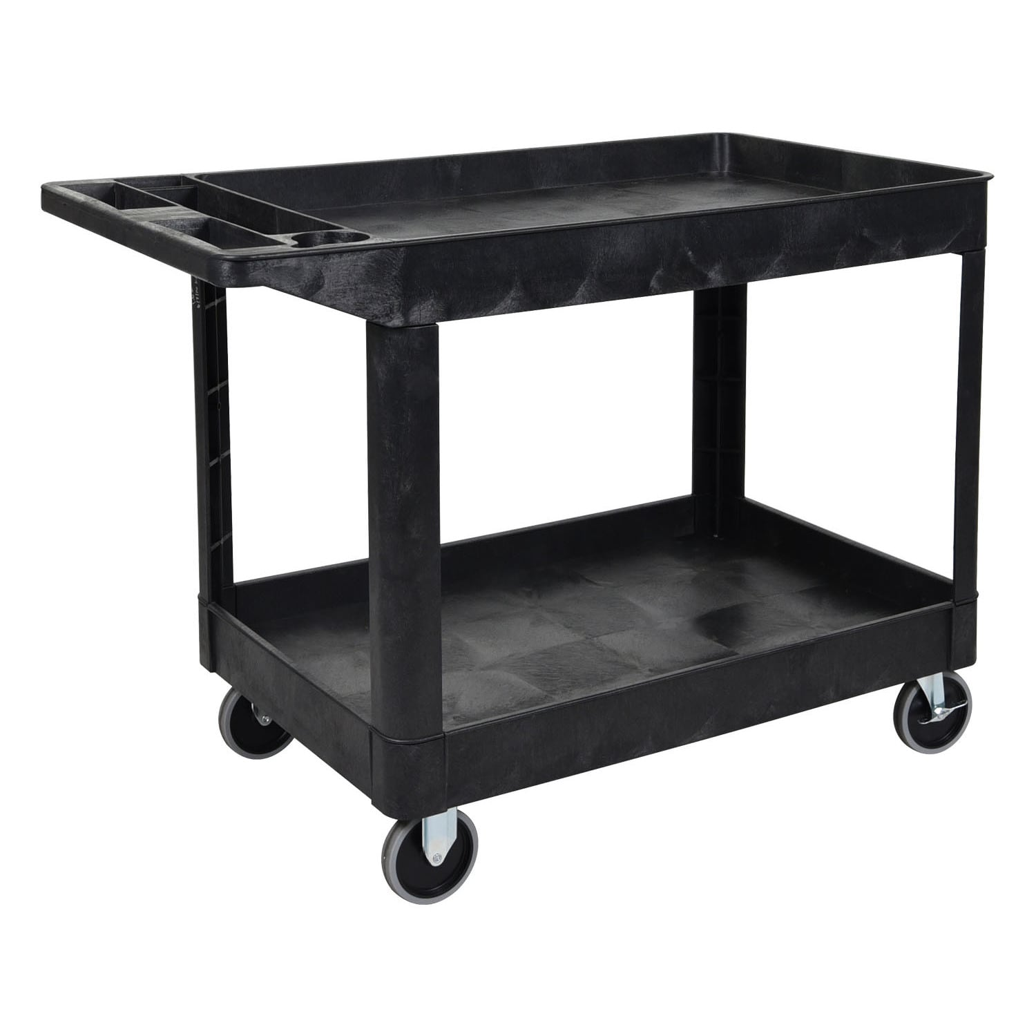 Offex  OF-XLC11-B 2 Shelves Multipurpose Black Utility Storage Cart