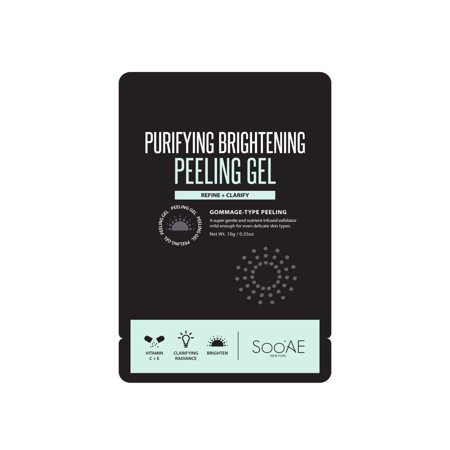 (2 Pack) SooAE Charcoal Clay Bubble Mask, 0.35 oz 2 Low Volume Purge Mask