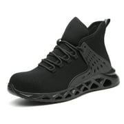Steel Toe Safety Shoes for Men Lightweight Industrial Sneakers Anti-pierce Construction Work Shoes Non Slip Safety Sports Shoes