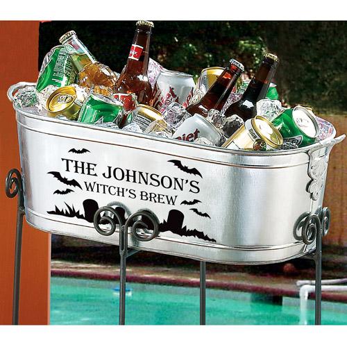 Personalized Halloween Beverage Tub