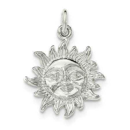 Sterling Silver Polished Sun (Silver Sun Pendant)