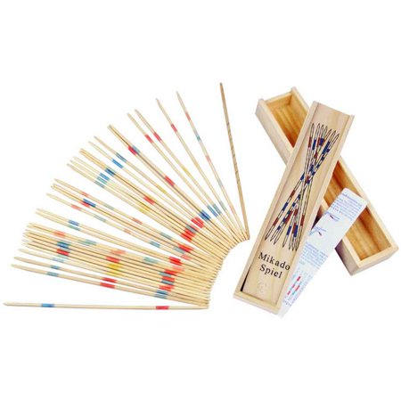 JOYFEEL Clearance 2019 Baby Educational Wooden Traditional Mikado Spiel Pick Up Sticks With Box Game Best Toy Gifts for Children