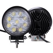 TheBest 2 PCS 27W Round Flood Work Light Bar Fog Driving Lamp Truck Tractor SUV 9 LED [Istilo273763]