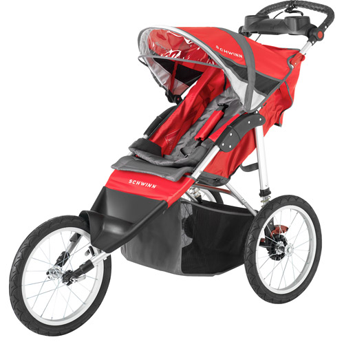 Schwinn Arrow Single Jogger Stroller, Red/Black