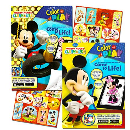 Mickey Mouse Clubhouse Coloring Book Set (2 Books - Mickey Mouse and Minnie Mouse) - Minnie And Mickey Mouse Halloween Coloring Pages