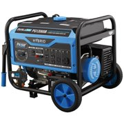Pulsar 12,000W Dual Fuel Portable Generator with Electric Start and Switch & Go Technology, CARB Approved