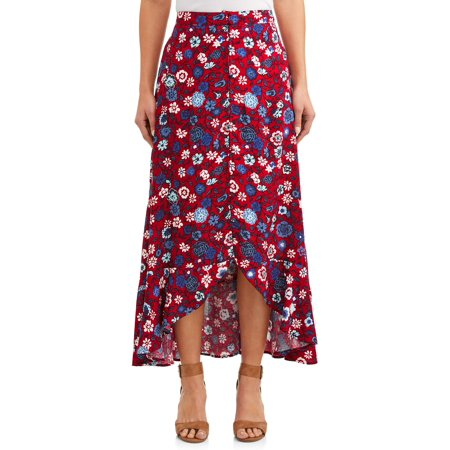 Women's Button Front Hi-Low Skirt](1950 Skirts)