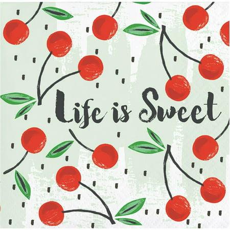 - Creative Converting Summer Fruit Beverage Napkin, 3 Ply, 24 ct