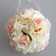 Jeobest 1PC Kissing Ball Flower - Wedding Ball - 6 Inch Flower Kissing Balls Wedding Home Decor Foam Rose Flowers Ball Decoration MZ (champagne)](Kissing Balls)