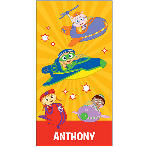 Personalized Super Why! Why Flyers Beach Towel