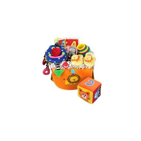 "Baby Gift Idea CEBASK 11"" x 8"" Basket Celebration Baby Toy"