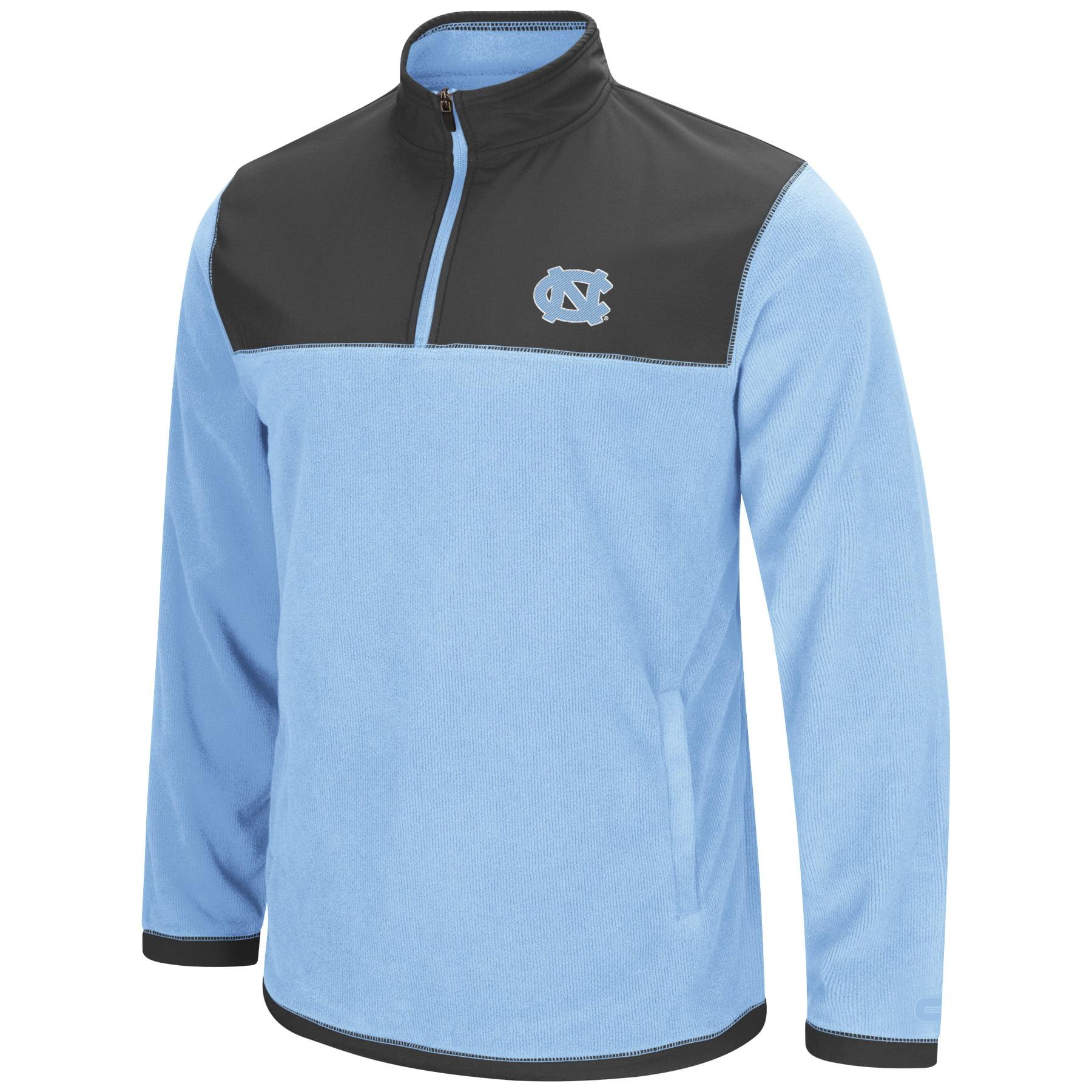 """North Carolina Tarheels NCAA """"Blocker"""" Men's 1 4 Zip Corduroy Fleece Jacket by Colosseum"""