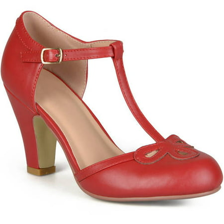 Womens Cut Out Round Toe T-strap Matte Mary Jane Pumps Aquatalia By Marvin K Pumps