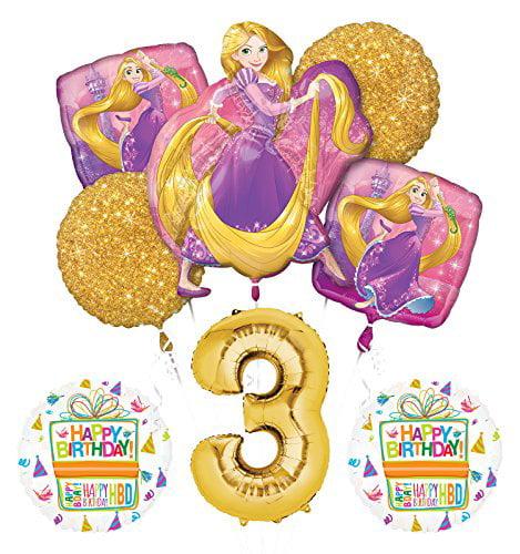 NEW! Tangled Rapunzel Disney Princess 3rd BIRTHDAY PARTY Balloon