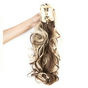 """FLORATA Women Lady 18"""" Thick Clip In Pony Tail Hair Extensions Fashion Claw Clip Jaw Long Wavy Ponytail"""