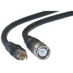 RG59U Coaxial BNC to RCA Video Cable, Black, BNC Male to RCA Male, 75 Ohm, 64% Braid, 6 foot