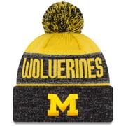 Michigan Wolverines New Era Team Freeze Cuffed Knit Hat with Pom - Maize - OSFA
