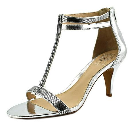Vince Camuto Makoto Women  Open Toe Leather Silver Heels