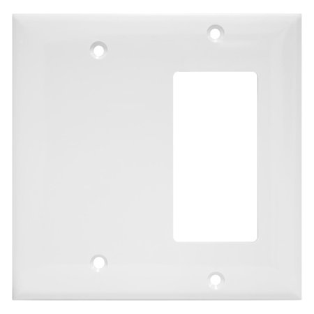 Enerlites Combination Wall Switch Plates, Standard Size, Unbreakable Polycarbonate - White