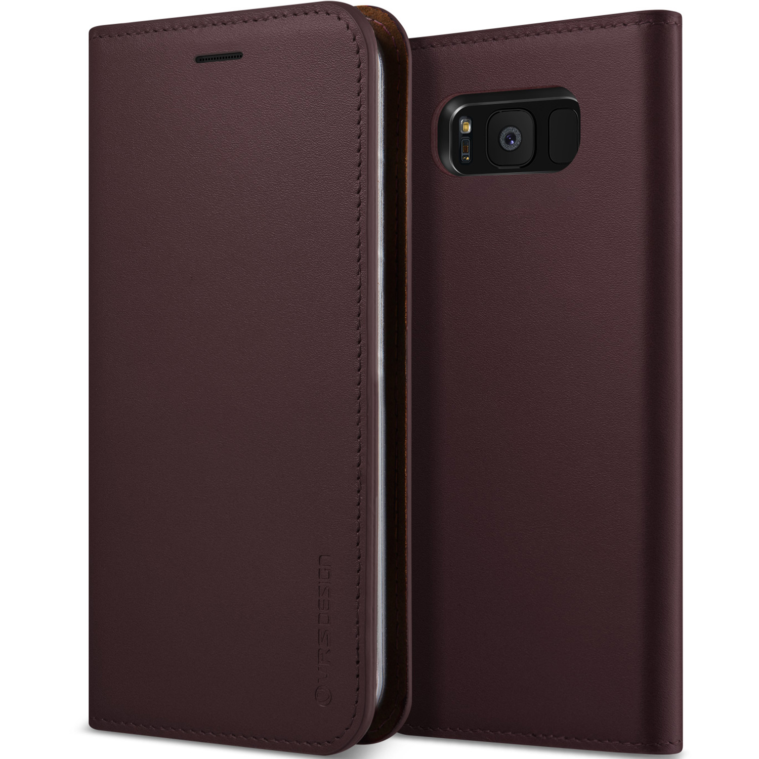 Samsung Galaxy S8 Case Cover   Slim Leather Wallet   VRS Design Genuine Leather Diary for Samsung Galaxy S8