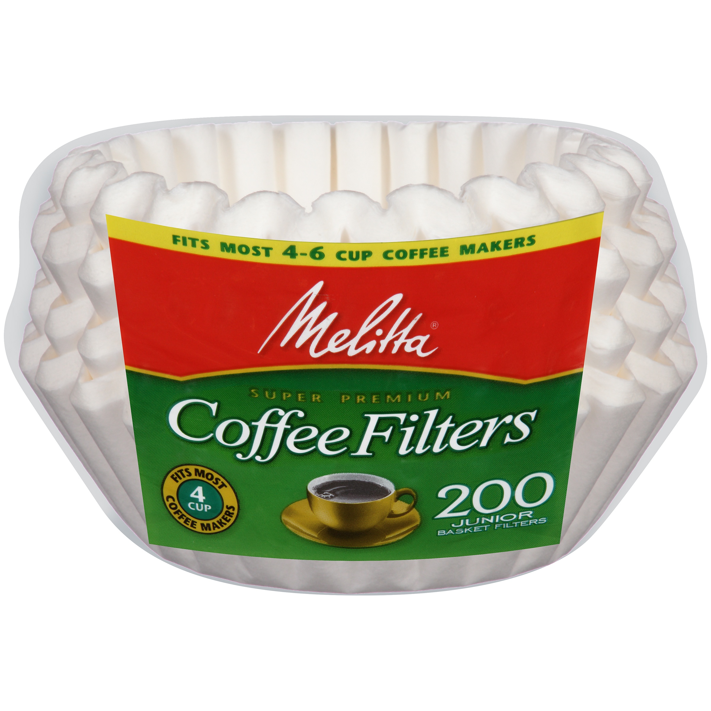 PAB200 Jr White Basket Coffee Filters by Melitta