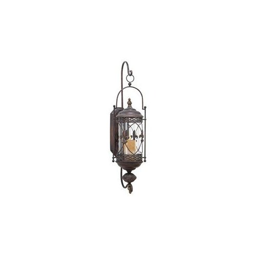 Aspire Home Accents 68448 Fleur De Lis Candle Lantern Wall Sconce by Brand New