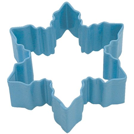 Snowflake Cookie Cutter - Snowflake Blue Poly Resin Cookie Cutter 3 in Pr1112B - R&M Cookie Cutters - Tin Plate Steel