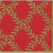 Paper Luncheon Napkins 20pk Acanthus Red Gold