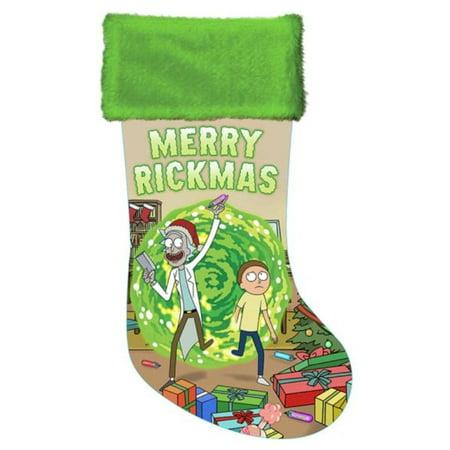Rick And Morty Christmas Ornaments.Kurt S Adler 48419 Rm7181 19 Rick And Morty Satin Stocking Christmas Tree Stocking Ornament