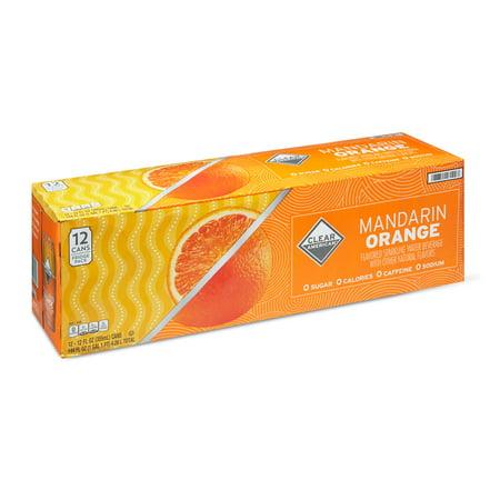 af311413180b Clear American Mandarin Orange Sparkling Water, 12 fl oz, 12 Count