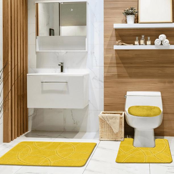 Burbank 3 Piece Bathroom Rug Set Soft, Bathroom Contour Rug