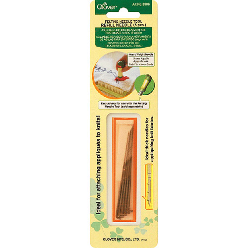 Clover Felting Needle Tool Refill, Heavy Weight, 5-Pack