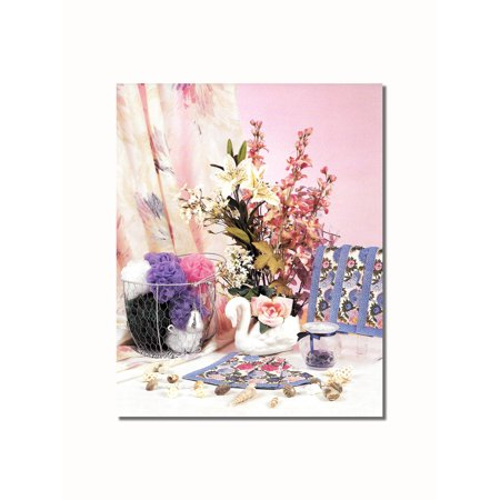Seashell Bathroom Towels Loofahs Flowers Wall Picture 8x10 Art Print