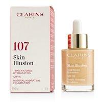 Clarins Skin Illusion Natural Hydrating Foundation SPF 15 # 107 Beige  30ml/1oz